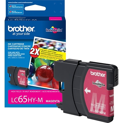 Brother Genuine LC65HYM Magenta High Yield Original Ink Cartridge