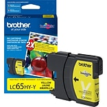Brother Genuine LC65HYY Yellow High Yield Original Ink Cartridge