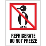 Refrigerate Do Not Freeze Label, 3 x 4, 500/RL