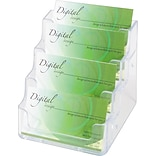 Deflect-O® Clear 4-Pocket Card Holders