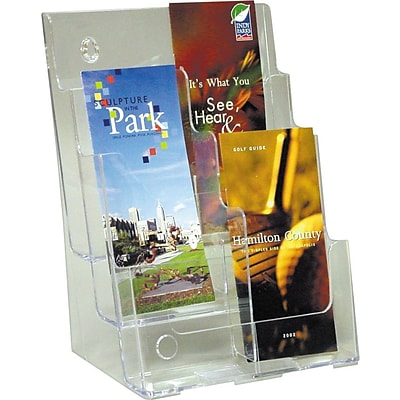 Deflect-O® Acrylic Literature Holders; 3-Tier, 6-Pocket Leaflet