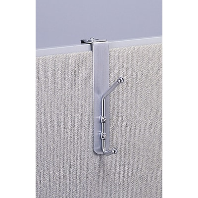 Safco® 4167 Over-the-Panel Coat Hook, Silver, 12/pack
