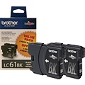 Brother® LC61BK (LC612PKS) Black Ink Cartridges Multi-pack (2 cart per pack)