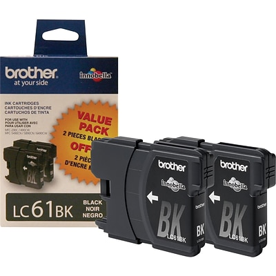 Brother Genuine LC612PKS Black Original Ink Cartridges Multi-pack (2 cart per pack)