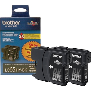 Brother® LC65BK2PKS Black High-Yield Inkjet Cartridges Multi-pack (2 cart per pack)
