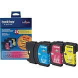 Brother LC 65 Color Combination Ink Cartridges, High Yield, 3/Pack (LC653PKS)