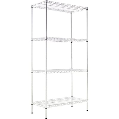 Alera® Industrial Wire Shelving Starter Set, 36Wx18D, Silver