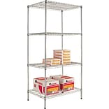 Alera 36Wx24D Silver Wire Shelving Starter