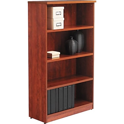 Alera®Valencia Series Bookcase Storage System, 4-Shelf, Medium Cherry