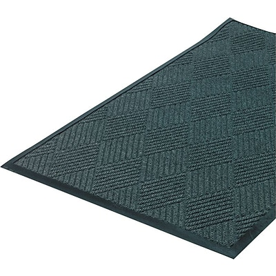 Crown Super-Soaker? Polypropylene Diamond Wiper/Scraper Mat, 115L x 34W, Slate