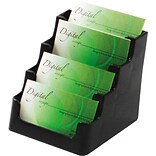 Deflect-O® Black 4-Pocket Card Holders