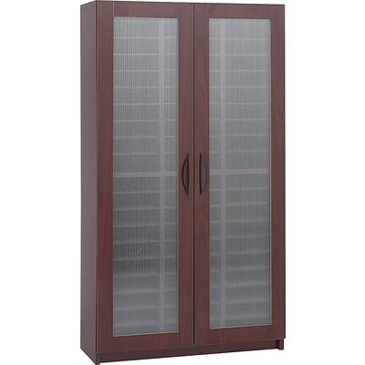 Safco Literature Organizers with Doors, 60-Compartment, Mahogany (9355MH)
