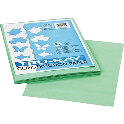 Tru-Ray® Construction Paper 9 x 12 Light Green; 50 sht (PAC103015)