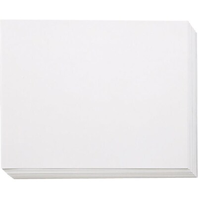 Pacon White Four-Ply Poster Board; 28 x 22, 100/Ct