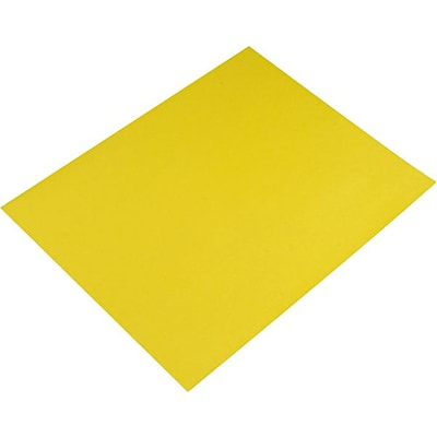 Pacon Colored Four-Ply Poster Board, 28 x 22, Lemon Yellow, 25/Ct