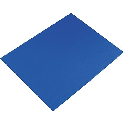 Pacon Colored Four-Ply Poster Board; 28 x 22, Dark Blue, 25/Ct