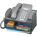 Safco Onyx Angled Mesh Steel Telephone Stand