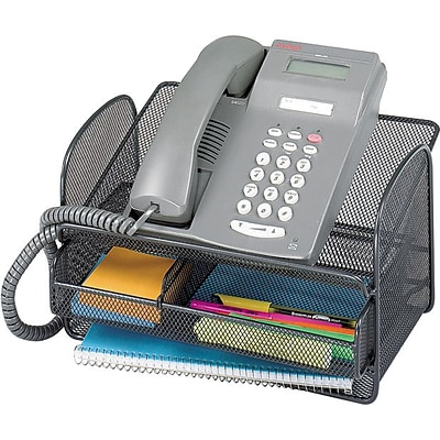 Safco® Onyx Angled Mesh Steel Telephone Stand