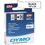 DYMO 1/4 Black on White Labelmaker Tape