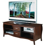 OSP Designs 60 Flat Screen TV Stand, Walnut