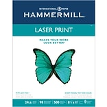 Hammermill Laser Copy Paper, 8-1/2 x 11, 98 Bright, 24 LB, 500 Sheets