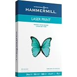 Hammermill Laser Ledger Copy Paper, 11 x 17, 100 Bright, 24 LB, 500 Sheets