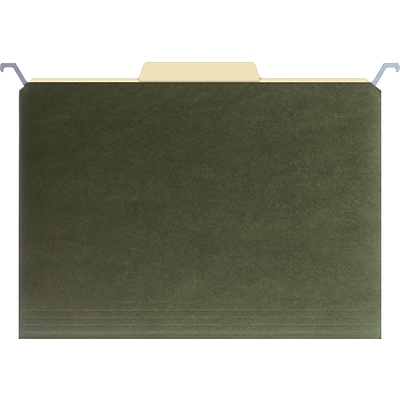 Find It® Hanging File Folders, Letter, Green, 20/Box