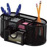 Rolodex® Black Mesh Pencil and Pencil Cup