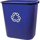 Rubbermaid® 2955-73 Deskside Recycling Container With Recycle Symbol, Medium, 13-5/8 qt