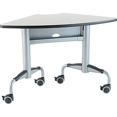 Bretford Here™ Series Training Tables, Quarter Round, 24D, Grey