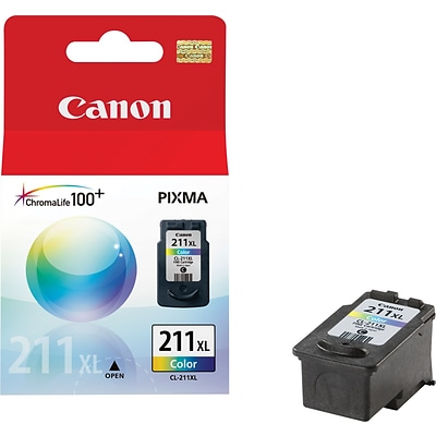 Canon CL-211XL Color Ink Cartridge, High Yield (2975B001)