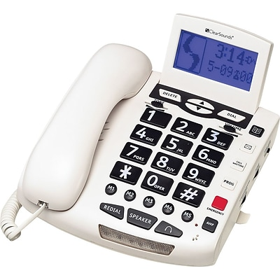 ClearSounds® Corded Phones, CSC600 Digital Amplified Freedom Phone™, Full ClearDigital® Power, White