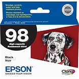 Epson 98 Black Ink Cartridge (T098120); High Yield