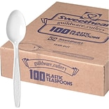 Dart® Guildware® Heavy-Weight Boxed Teaspoon, White, 100/Box (GBX7TW-0007)