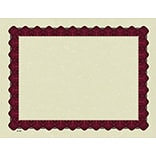 Great Papers® Parchment Certificates with Metallic Red Border, 25/Pack