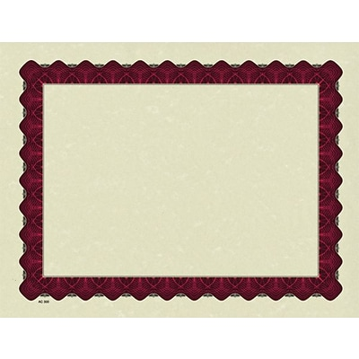 Masterpiece Studios® Parchment Certificates, Red Border, 100 Sheets Per Pack