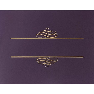 Great Papers® Foil Enhanced Classic Certificate Covers, Plum, 5/Pack