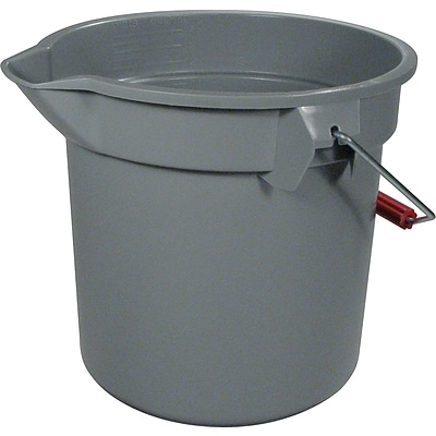 Rubbermaid Commercial 14-Quart Round Utility Bucket 12 Diameter x 11-1/4h  Gray