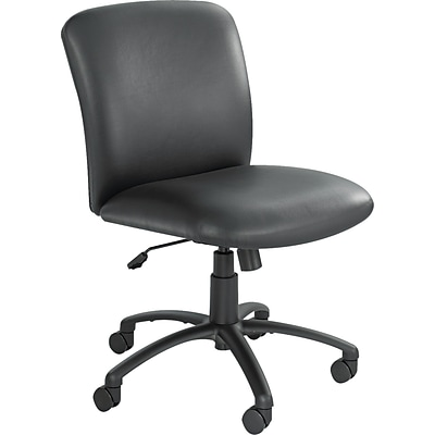 Safco® Uber Big and Tall Vinyl Chair, Mid Back, Black