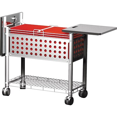 Vertiflex Products™ Smartworx™ File Cart with Top, Grey, Letter/Legal (VF52001)