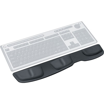 Fellowes® Keyboard Palm Support, Leatherette, Black