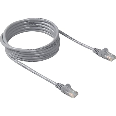 Belkin® 50 RJ45 Cat-5E Patch Cables, Snagless, Grey