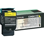 Lexmark Yellow Toner Cartridge (C540H1YG); High Yield, Return Program