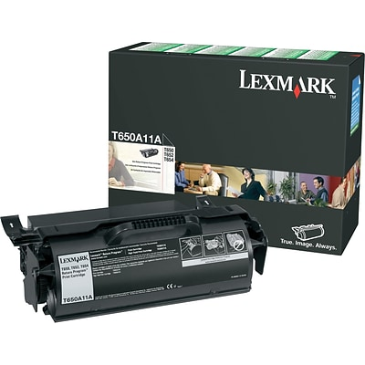Lexmark T650A11A Black Standard Yield Toner Cartridge