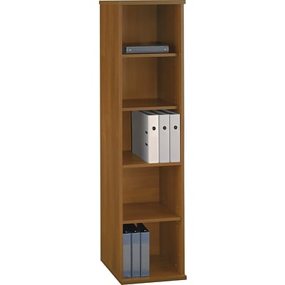 Bush Business Westfield 18W 5 Shelf Bookcase, Cafe Oak