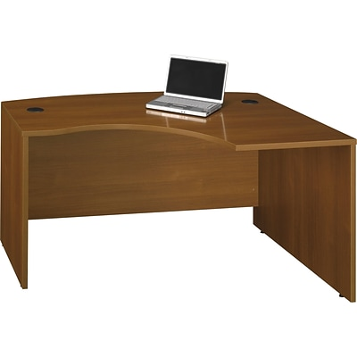 Bush® Corsa Collection in Warm Oak Finish, Right L-Bow Desk, Ready to Assemble