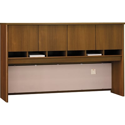 Bush Business Westfield 72W 4 Door Hutch, Cafe Oak, Installed