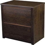 Bestar Prestige+ Lateral File, Fully Assembled, Chocolate+