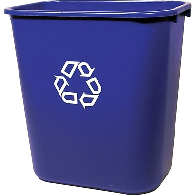 Brighton Professional™ Desk-Side Station Recycling Container, 7 Gallons, Blue, 15H x 14 1/2W x 10 1/2D