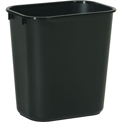 Brighton Professional™ Rectangular Wastebaskets; Black, 3-Gallon